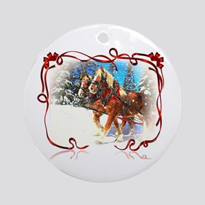 Holiday season' s sleigh ride Ornament (Round)