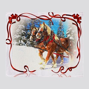 Holiday season' s sleigh ride Throw Blanket