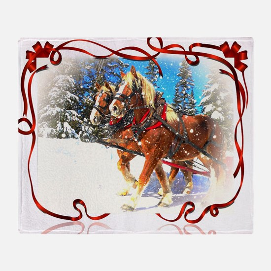 Holiday season' s sleigh ride Throw Blanket
