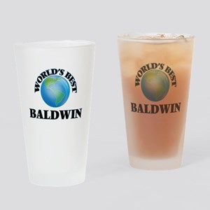 World's Best Baldwin Drinking Glass