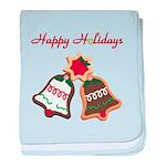 Christmas Cookie Bells baby blanket