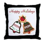 Christmas Cookie Bells Throw Pillow