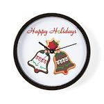 Christmas Cookie Bells Wall Clock