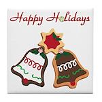 Christmas Cookie Bells Tile Coaster