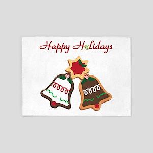 Christmas Cookie Bells 5'x7'Area Rug
