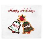 Christmas Cookie Bells King Duvet