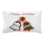 Christmas Cookie Bells Pillow Case