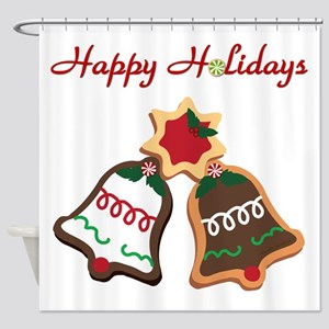 Christmas Cookie Bells Shower Curtain