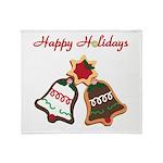 Christmas Cookie Bells Throw Blanket