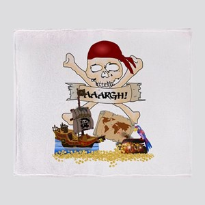 Pirate Day Icons Throw Blanket