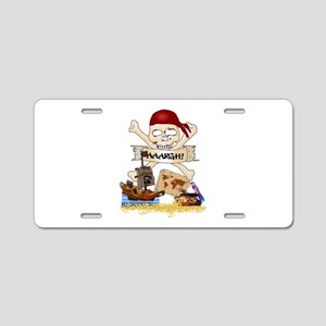 Pirate Day Icons Aluminum License Plate