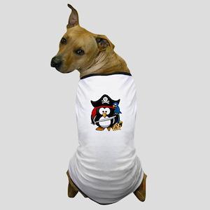 Cute Pirate Captain Penguin Dog T-Shirt