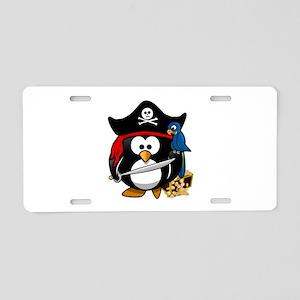 Cute Pirate Captain Penguin Aluminum License Plate