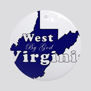 wv by god scripty Ornament (Round)