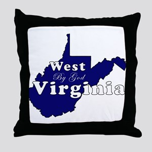 wv by god scripty Throw Pillow