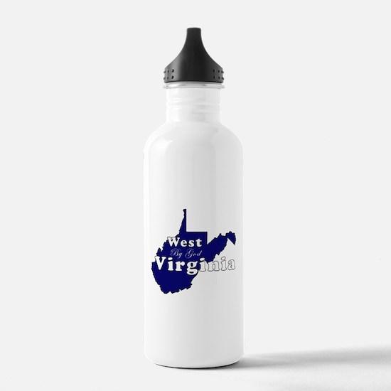 wv by god scripty.jpg Water Bottle