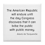 Public Money Tile Coaster