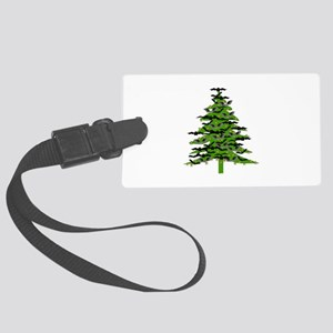 Christmas Bat Tree Large Luggage Tag