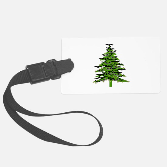 Christmas Bat Tree Luggage Tag
