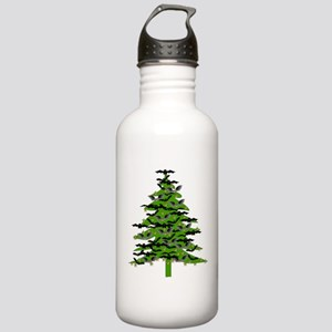 Christmas Bat Tree Stainless Water Bottle 1.0L
