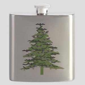 Christmas Bat Tree Flask
