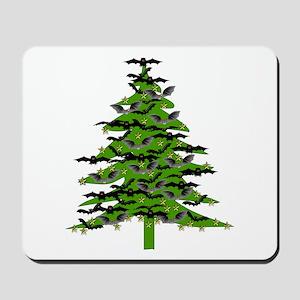 Christmas Bat Tree Mousepad