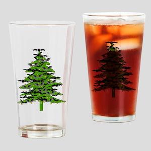 Christmas Bat Tree Drinking Glass