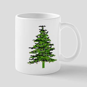 Christmas Bat Tree Mug