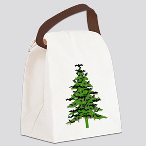 Christmas Bat Tree Canvas Lunch Bag