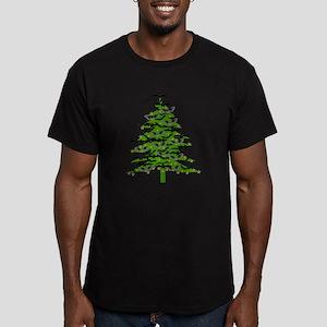 Christmas Bat Tree Men's Fitted T-Shirt (dark)