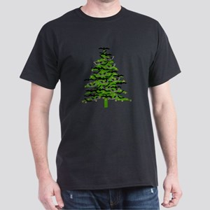 Christmas Bat Tree Dark T-Shirt