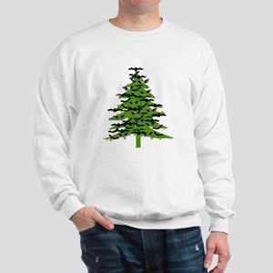 Christmas Bat Tree Sweatshirt
