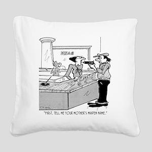 Bank Cartoon 2922 Square Canvas Pillow