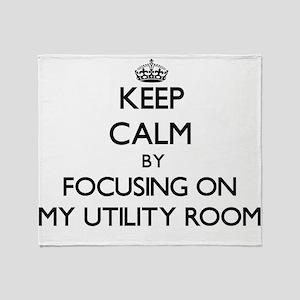 Keep Calm by focusing on My Utility Throw Blanket