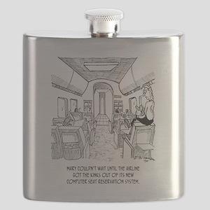 Flying Cartoon 2154 Flask