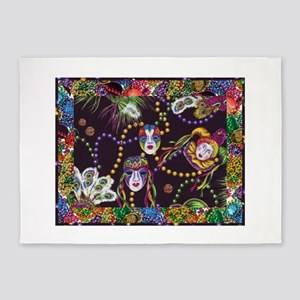 Best Seller Mardi Gras 5'x7'Area Rug