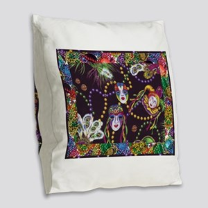 Best Seller Mardi Gras Burlap Throw Pillow