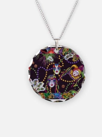 Best Seller Mardi Gras Necklace Circle Charm