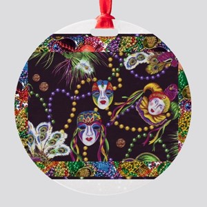 Best Seller Mardi Gras Round Ornament