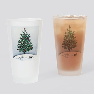 Christmas Snow Cats Drinking Glass