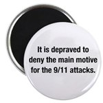 """It is depraved to deny 2.25"""" Magnet (10 pack)"""