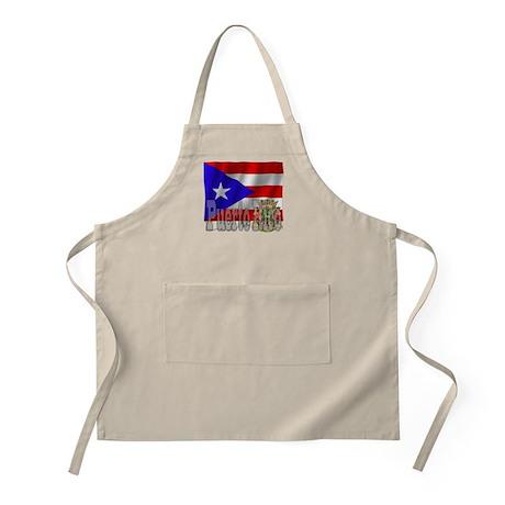 Silky Flag Puerto Rico BBQ Apron