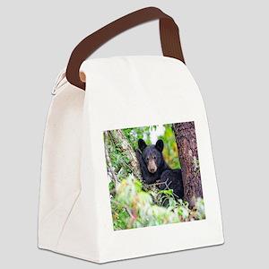Baby Black Bear Canvas Lunch Bag