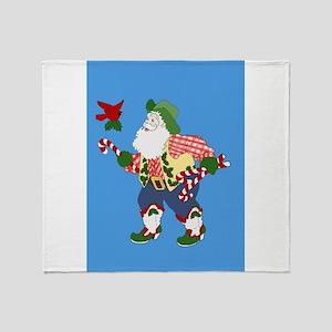 Seasons Greetings Yall Throw Blanket