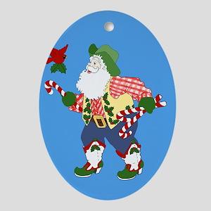 Seasons Greetings Yall Ornament (Oval)