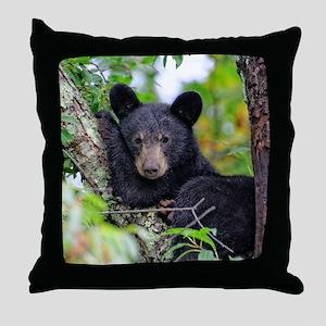 Baby Black Bear Throw Pillow