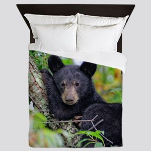 Baby Black Bear Queen Duvet