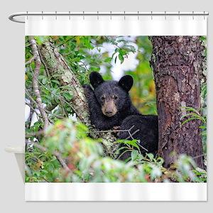 Baby Black Bear Shower Curtain