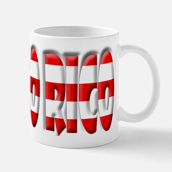 Word Art Flag Puerto Rico Mug