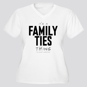 It's a Family Ties Thing Women's Plus Size V-Neck